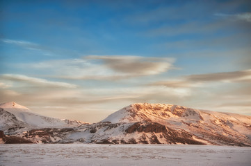Snowy Iceland landscape 3