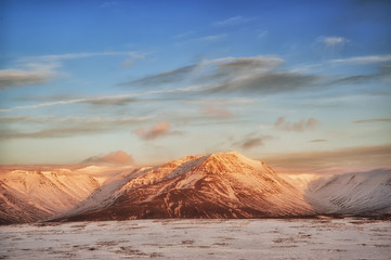 Snowy Iceland landscape 2