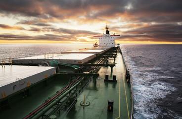 Cargo ship underway