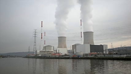 Nuclear Power Station By River