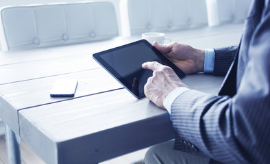 Business tablet pc user