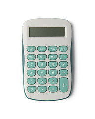 Calculator isolated on white background with clipping path