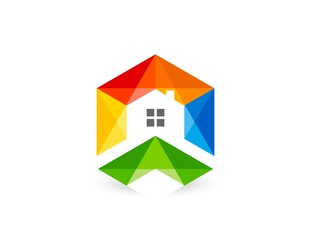 house, real estate logo, business finance company,corporate