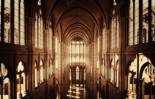 Plexiglas Monument Chiesa cattedrale gotica
