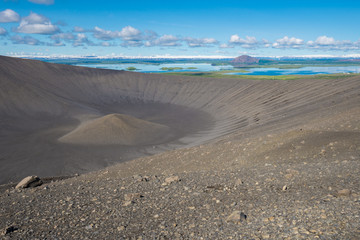 Hverfjall crater in Myvatn area, northern Iceland
