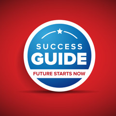 Success guide label or badge