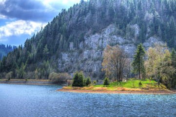 Mountains and lake - HDR