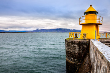 Reykjavik harbor lighthouse