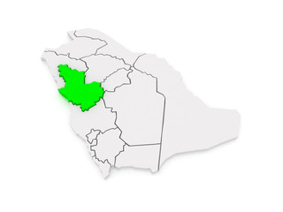 Map of El Madina. Saudi Arabia.