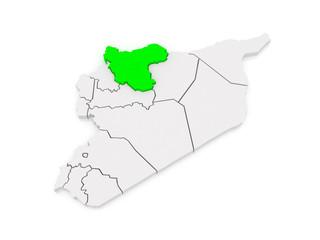 Map of Aleppo (Aleppo). Syria.