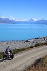 Cyclotourisme près du mont Cook