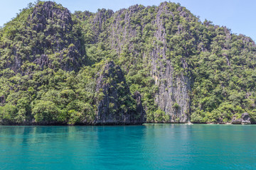 Blue Lagoon in Coron Palawan Island Philippines
