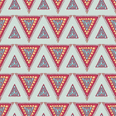blue and pink triangles