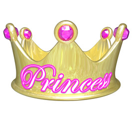 Princess Gold Crown Royalty Pretty Spoiled Girl Woman