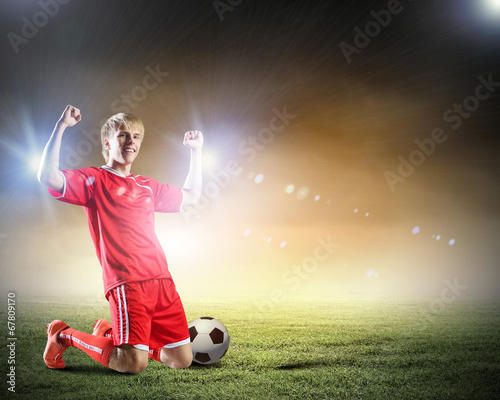 canvas print picture Football goal