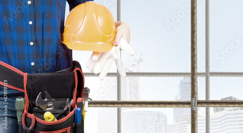 canvas print picture Female engineer