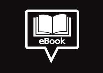 E-book reader  and e-reader icons set