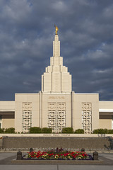 Mormon Temple in Idaho Falls, ID
