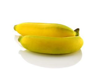 Banana white background