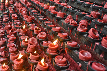 Red Candle Offereings