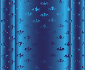 Seamless Wallpaper Pattern. Blue Vector Background