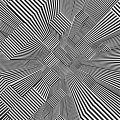 Abstract Urban City Of Skyscrapers Stripes Vector