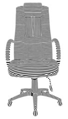 Office Armchair Stripes Vector