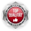 Roter Top Qualität Button mit metall Rand