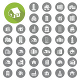 Fototapety Home and building icons set. Illustration eps10