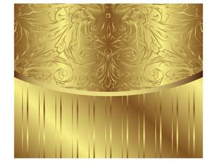 Vintage Vector Pattern. Golden Royal Vector Design Element