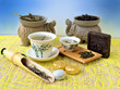 The composition of different kinds of tea