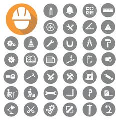 Engineer icons set. Illustration eps10