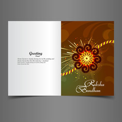 Raksha Bandhan bright colorful greeting card rakhi indian festiv