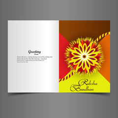 Raksha Bandhan artistic greeting card colorful creative backgrou
