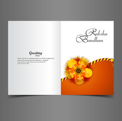 Raksha Bandhan greeting card beautiful presentation colorful vec