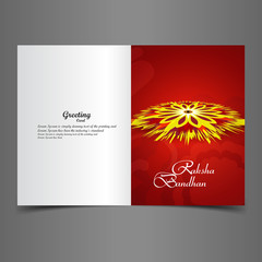Beautiful Presentation Raksha Bandhan greeting card background c
