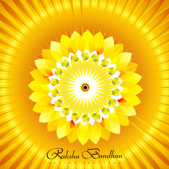 Shiny vector rakhi colorful beautiful background