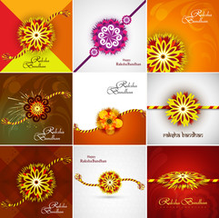 Beautiful Raksha bandhan celebration Presentation card set colle