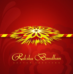 Rakhi Indian festival Raksha Bandhan colorul vector illustration