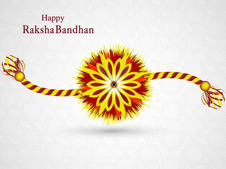 Beautiful stylish rakhi design vector