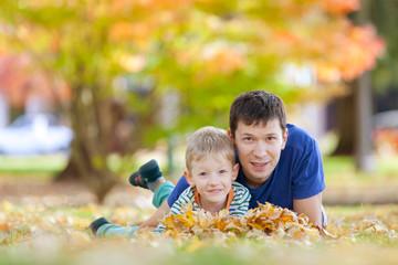 family at fall