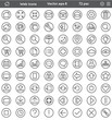 Universal Web Interface Icon Set - Flat Line Style