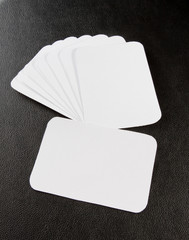 blank business cards with rounded corners