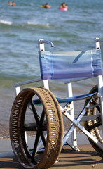 wheel chair with steel wheels