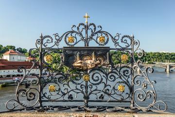 Bas-relief.Charles bridge,Prague.