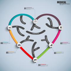 Medical infographics design template