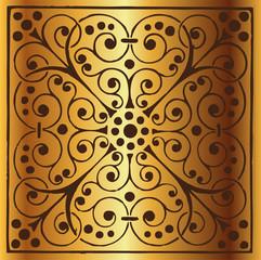 Luxury Vintage Floral Gold Background