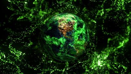 Pollution Earth Concept