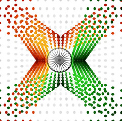 Indian Independence Day celebrations halftone dots flag vector d