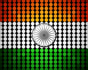 Indian Independence Day celebrations 15th of August halftone bac